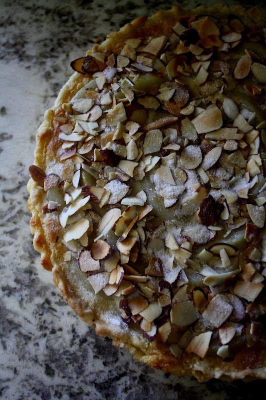 pear almond custard tart | live to eat | Deliciousness | Pinterest