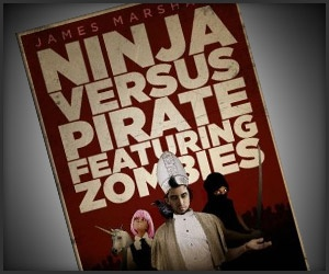 Ninja Versus Pirate Featuring Zombies, $16