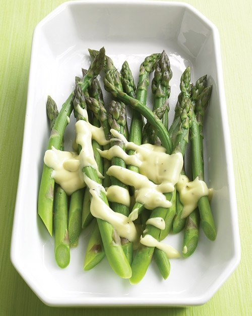 Asparagus with Creamy Mustard Sauce   Recipe