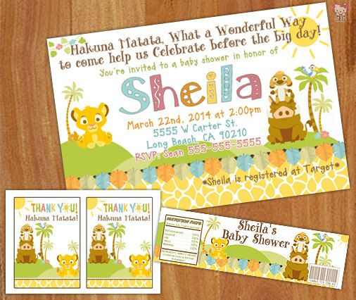 lion king themed baby shower printable package by designsbyslg