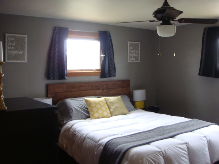Our Gray Yellow Master Bedroom For The Home Pinterest
