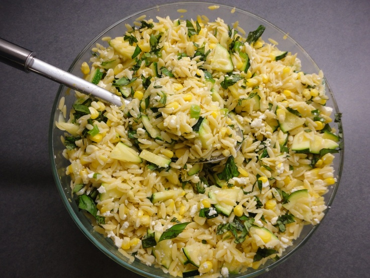 Corn and Zucchini Orzo Salad - a light and refreshing summer salad!