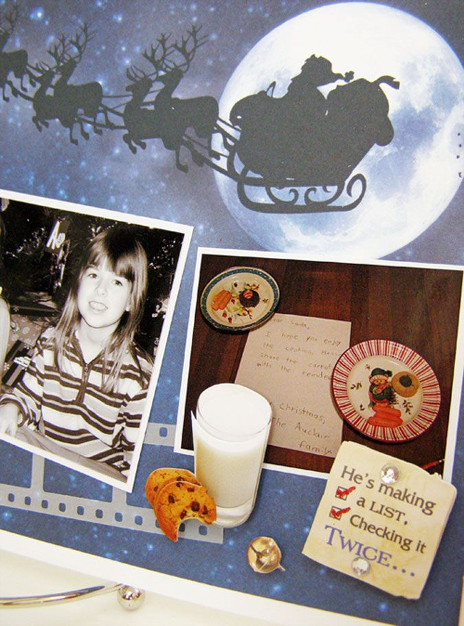 Dear Santa Layout Closeup - Linda Auclair
