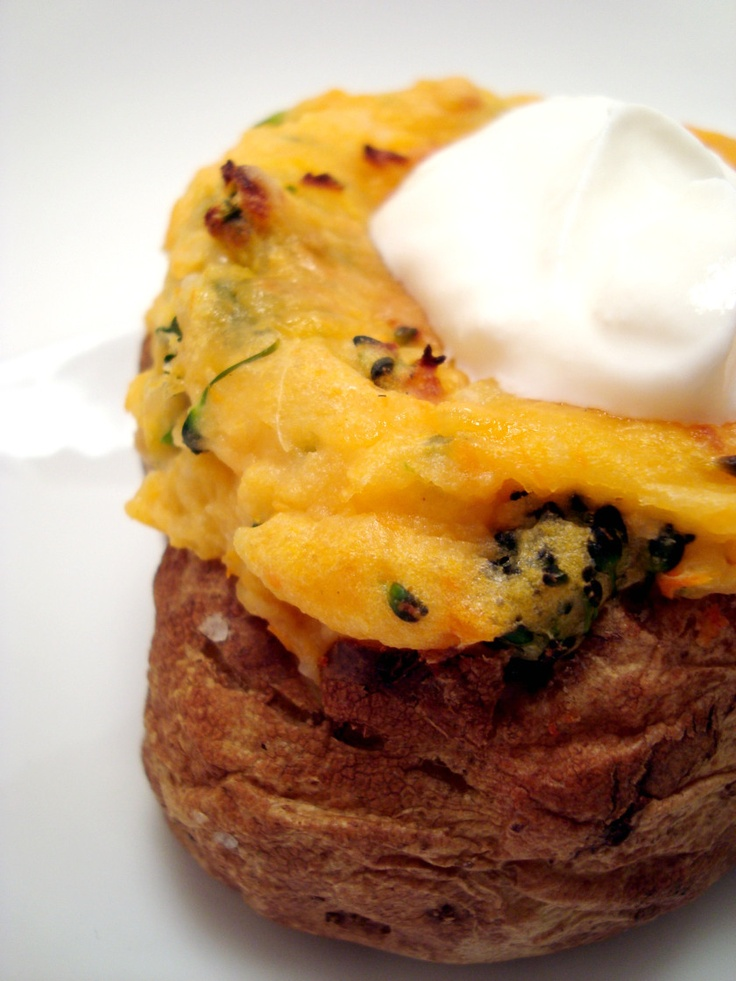 twiced baked sweet potato with broccoli | Food n drinks that I love ...