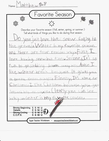 6 traits of writing rubric elementary