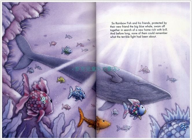 Pin by simona artelj on animal lover pinterest for Rainbow fish and the big blue whale