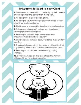 10 reasons to read to your child christmas pinterest