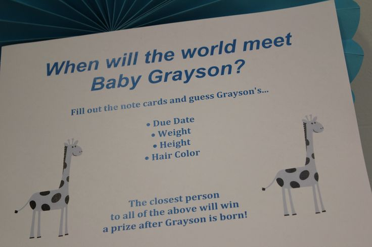 Fun Office Baby Shower Game