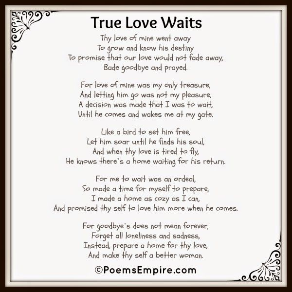 essay about true love waits Read this essay on true love waits come browse our large digital warehouse of free sample essays get the knowledge you need in order to pass your classes and more.