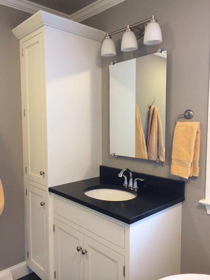 Vanity and linen closet master bath ideas pinterest for Master bath and closet ideas