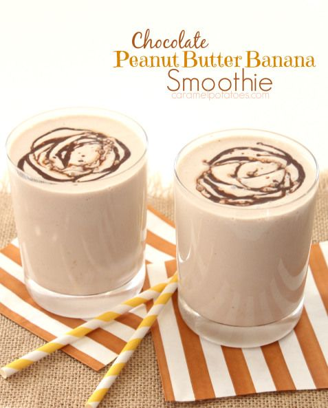 Chocolate Peanut Butter Banana Smoothie | Food lover | Pinterest
