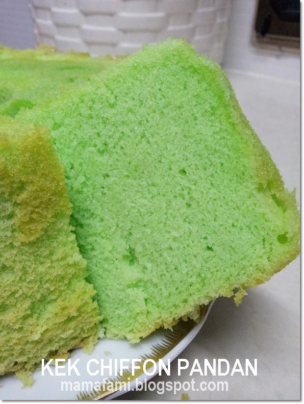 Pandan Chiffon Cake - [Pandan Leaves & Paste - used in both sweet and ...