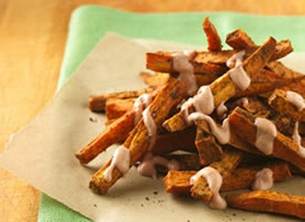 Cajun Sweet Potato Fries with Yogurt Dipping Sauce. Recipe from Betty ...