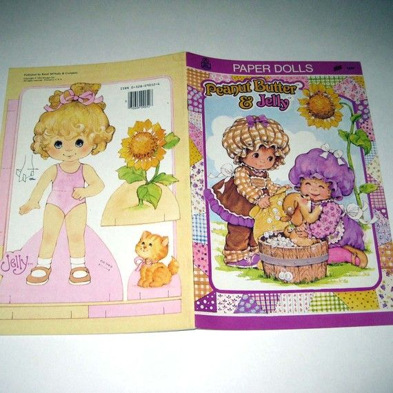 Peanut Butter and Jelly paper dolls. They work shabby chic gingham ...