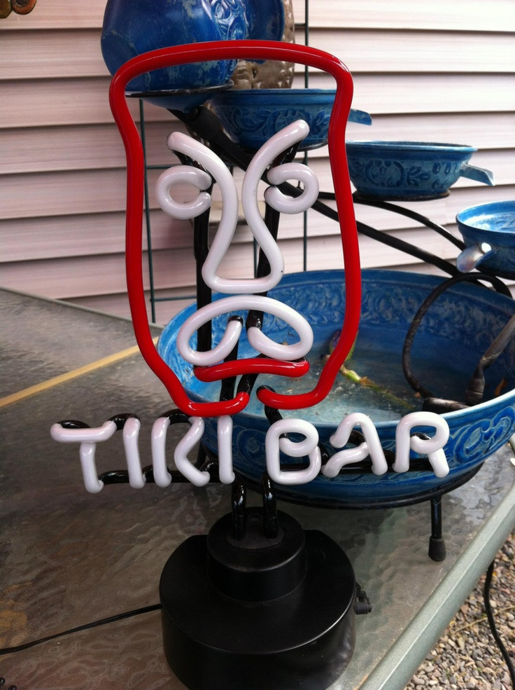 Cool Tiki Bar neon sign! www.wayfare.com   Margaritaville