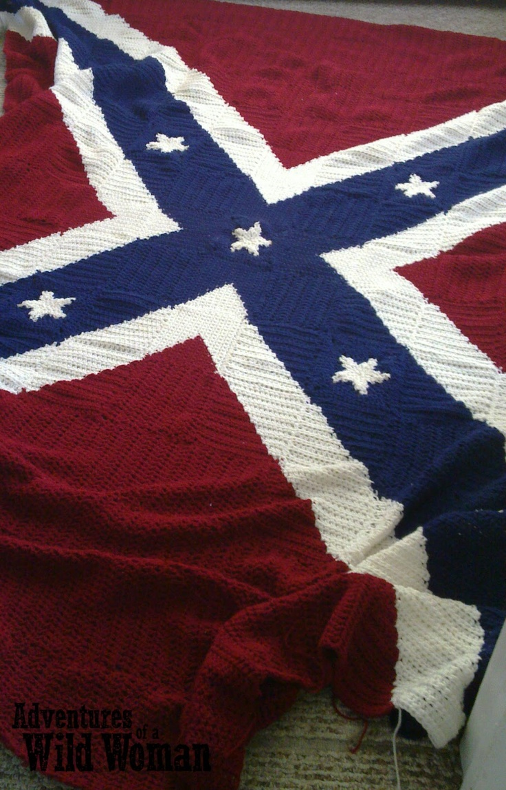 Crochet Patterns Rebel Flag : ... house: Crochet Confederate Flag Blanket Crochet: DONE Pinterest