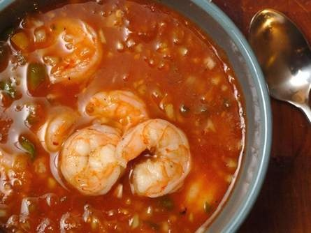 Shrimp gazpacho | Ethnic Foods Etc. | Pinterest