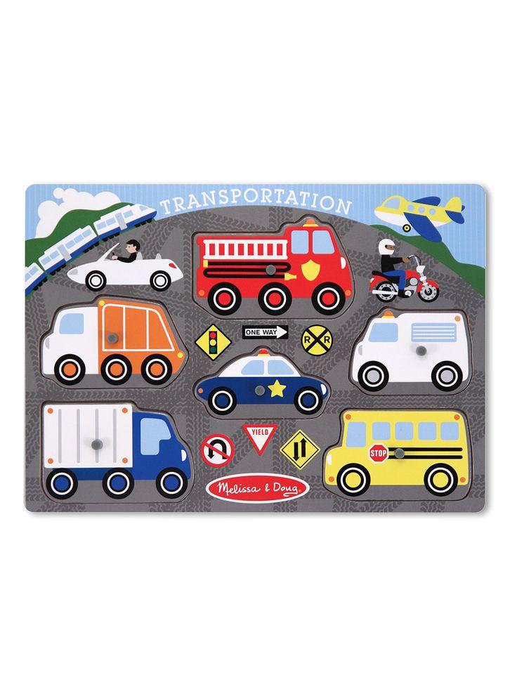 Transportation Peg Puzzle #Suitcase #KidsBaby #ToysGamesBooks