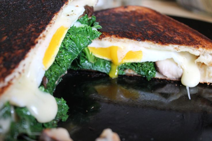 put-an-egg-on-it: Kale, Mushroom, Egg, and Garlic Cheddar Grilled ...