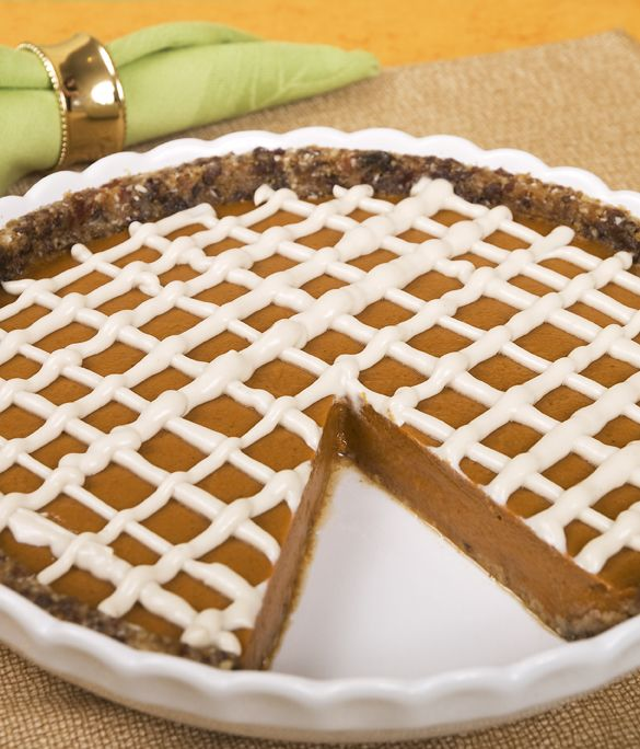 Raw Pumpkin Pie (is make this w stevia and pumpkin NOT carrot)
