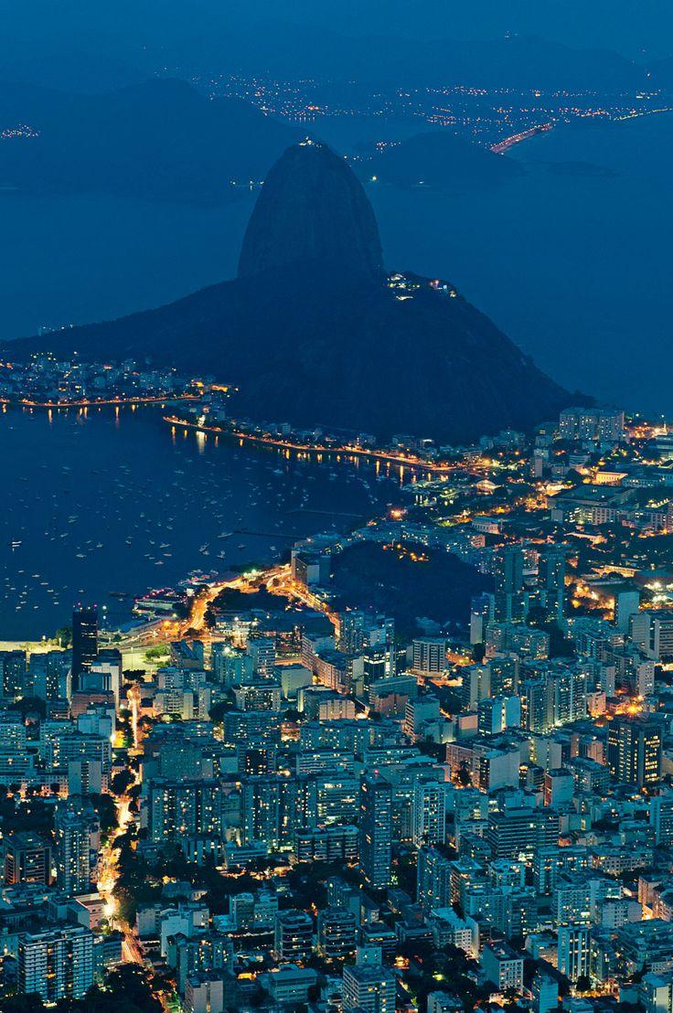 Rio de Janeiro, Brazil seen from Christ the Redeemer.