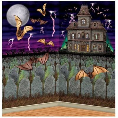 Halloween party haunted house insta theme scene add on for Haunted house scene ideas