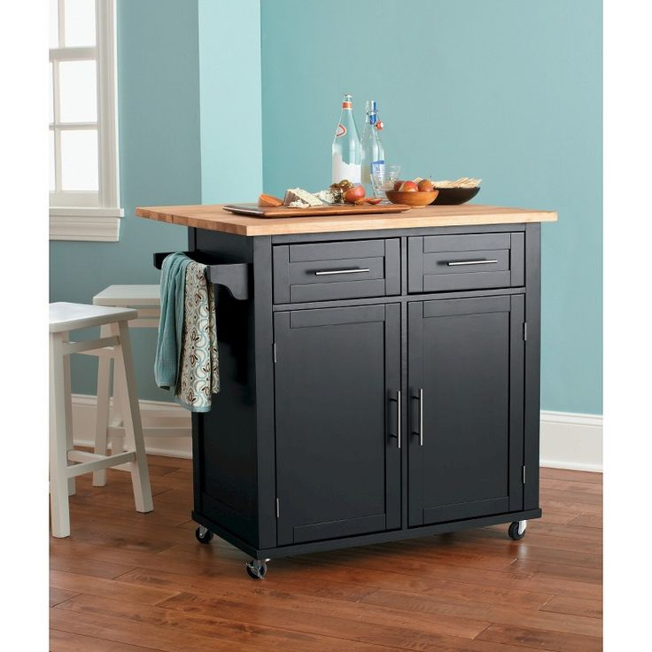 threshold kitchen island black