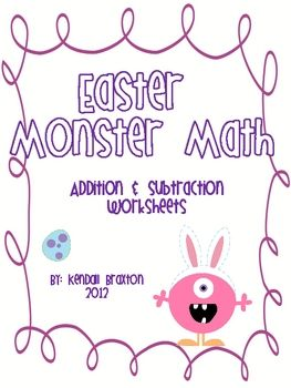 These worksheets can be used practice addition and subtraction using