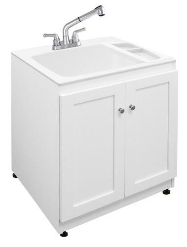 Laundry Tubs With Storage : Laundry Tub Cabinet Kit Storage Pinterest