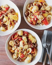 Orecchiette with Sausage and Cherry Tomatoes