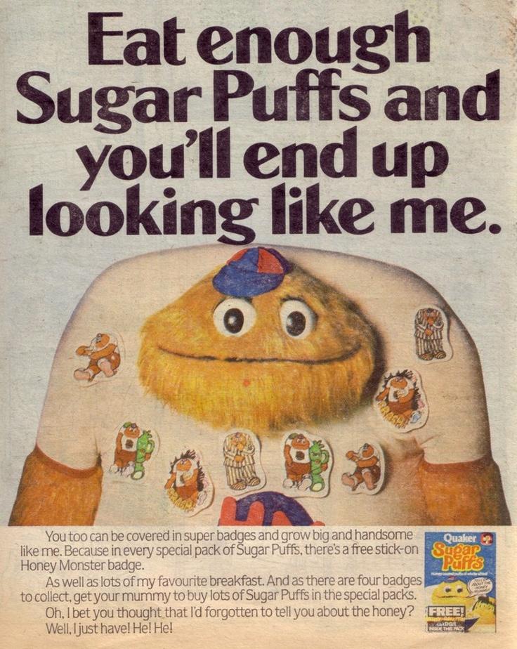Sugar Puffs! | Vintage Advertising Art | Pinterest