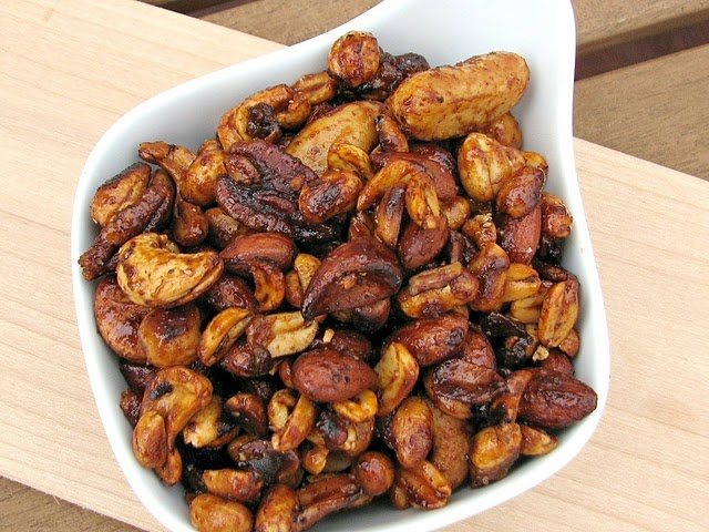 sweet and spicy chili nuts recipe is being tucked away in my memory ...