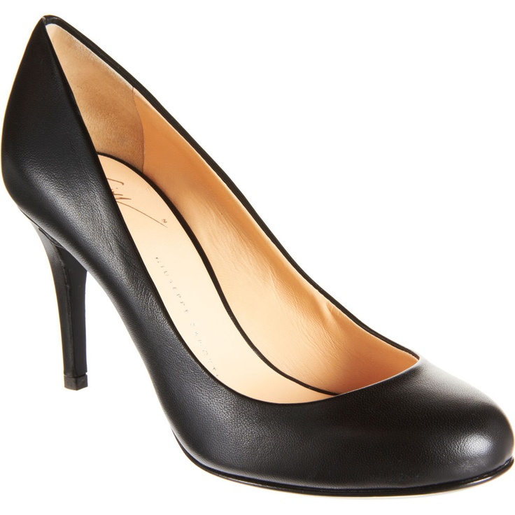 The classic round-toe black pump, always in style