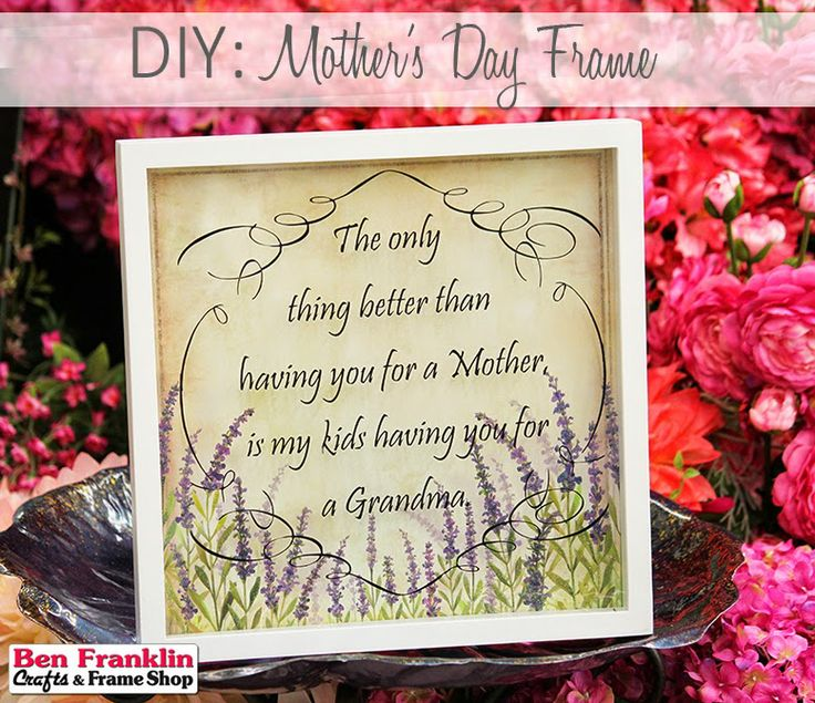 Diy mother 39 s day frame gift for grandma mother 39 s day for Mother s day gift ideas for grandma