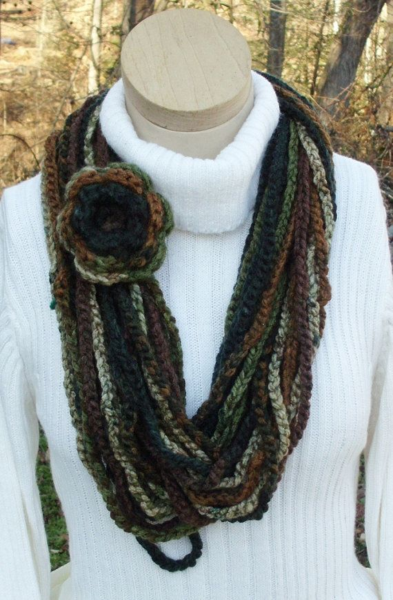 Crochet Chain : Scarf Crochet Chain Large Long Circle by RoseCottageCrochet, $25.00