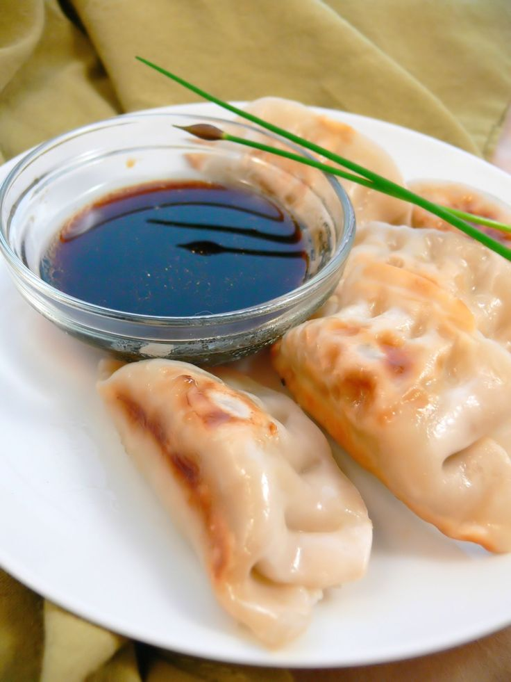 Pot Stickers with Soy Dipping Sauce from Rachel's Kitchen http ...
