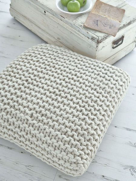 Chunky knit floor cushion for Floor knitting