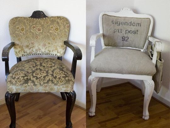 Diy chair reupholstering for How to reupholster a chair