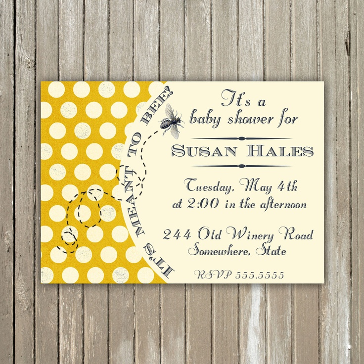 it 39 s meant to bee baby shower printable invitation