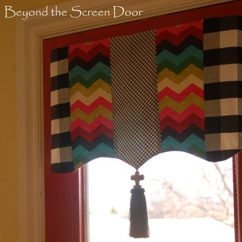 Black and Red Kitchen Valances