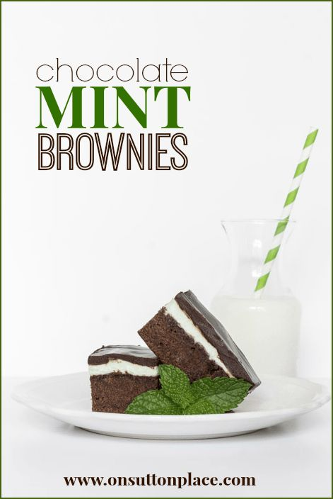 green mint layer in the middle make these chocolate mint brownies ...