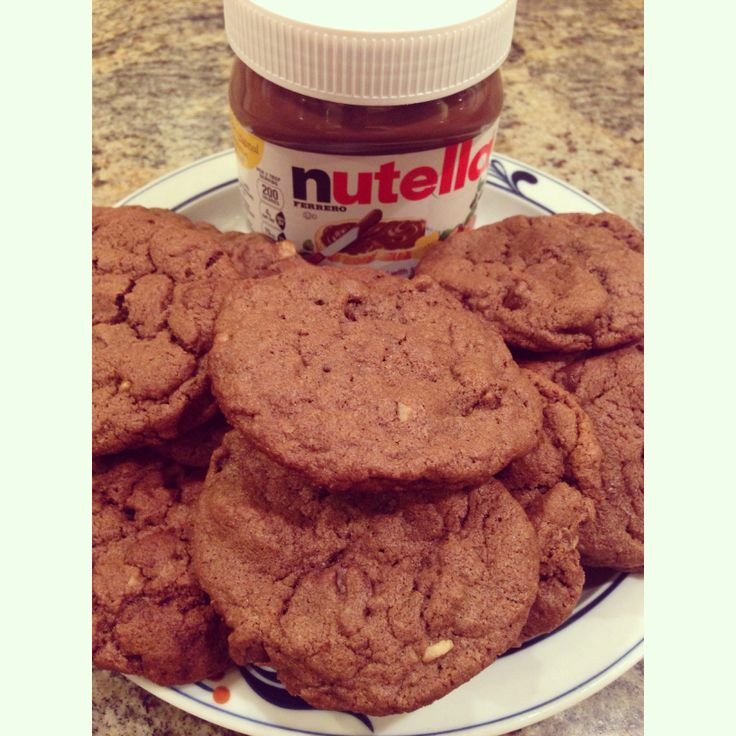 Nutella chocolate chip hazel nut cookies | Sweet Treats and Recipes ...