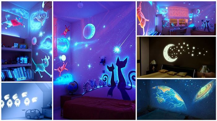 glow in the dark wall murals lets do this joel lol. Black Bedroom Furniture Sets. Home Design Ideas
