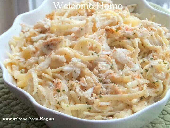 Crab pasta. | Calories | Pinterest
