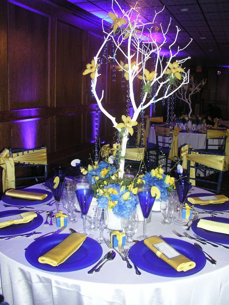 Blue And Yellow Wedding Ideas : Blue and yellow wedding theme inspiraciones en azul y