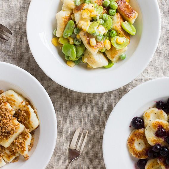 Simple Potato Gnocchi with a Spring Carbonara Sauce | Meat Free Week