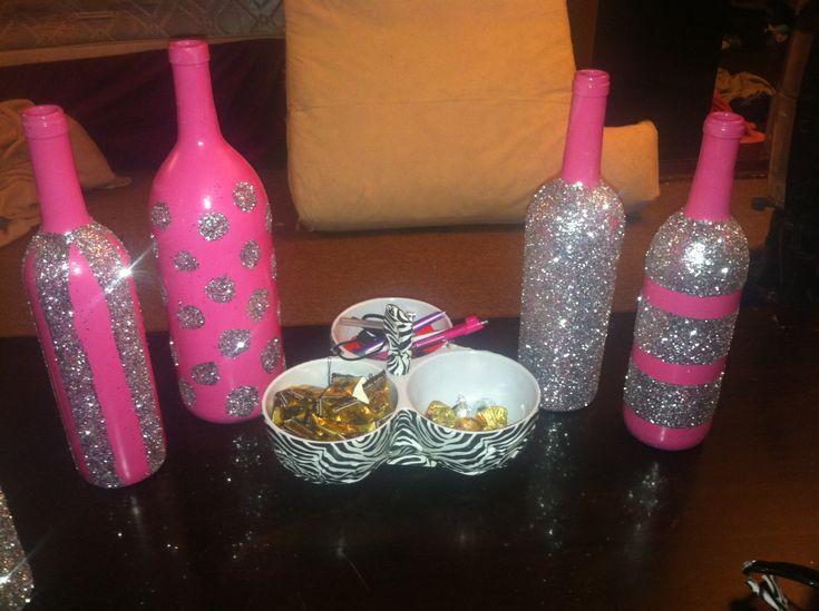 Decorated Wine Bottles Decor Pinterest