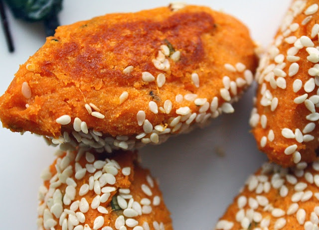 Baked sweet potato falafel - To make your own garbonzo bean flour ...
