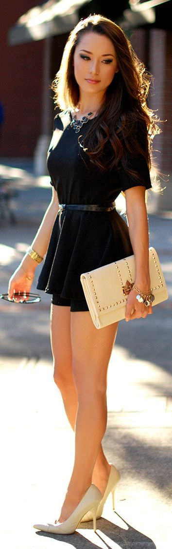 Black Top & Mini Short