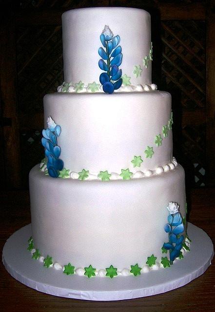 Bluebonnet Wedding Cake Deep In The Of TEXAS Pinterest